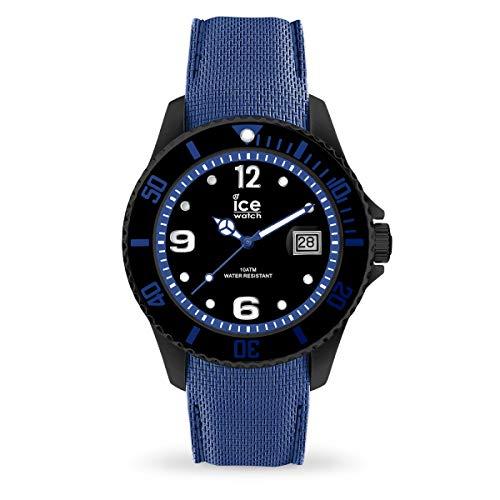 ICE-WATCH - ICE steel Black blue - Schwarze Herrenuhr mit Silikonarmband - 015783 (Large)