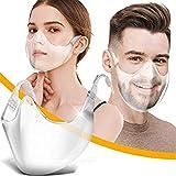 2Stück Gesichtsvisier aus Kunststoff Schutzvisier Safety Gesichtsschutzschild Visier Gesichtsschutz Plexiglas Transparent Schutzvisier Mundschutz Plastik Gesichtsschutzschirm Face Shield