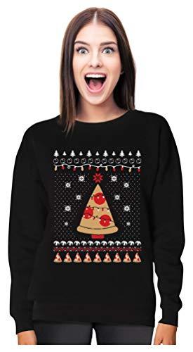 Tstars Pizza Ugly Christmas Sweater Funny Xmas...