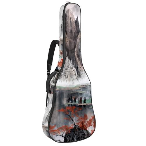Bolsa para Guitarra Montañas brumosas chinas Funda para Guitarra Acústica Clásica y...