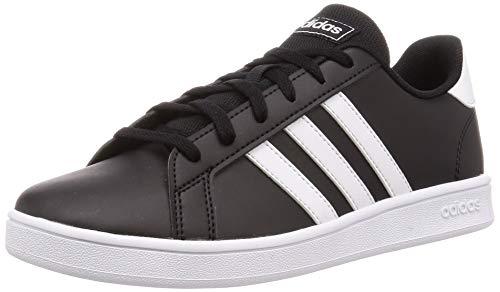adidas Grand Court K, Scarpe da Tennis Unisex-Baby, Noir Blanc Blanc, 37 1/3 EU