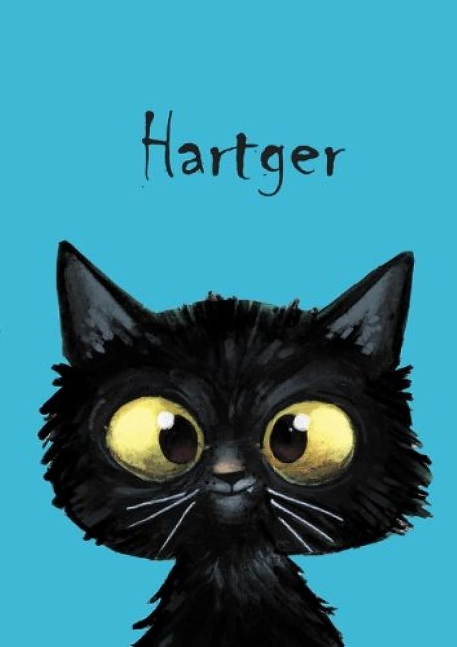 中で円形のお茶Hartger: Hartger - Katzen - Malbuch / Notizbuch / Tagebuch: A5 - blanko