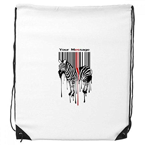 Zwart Rood Gestreepte Code Graffiti Zebra Trekkoord Rugzak Winkelen Handtas Gift Sport Tassen