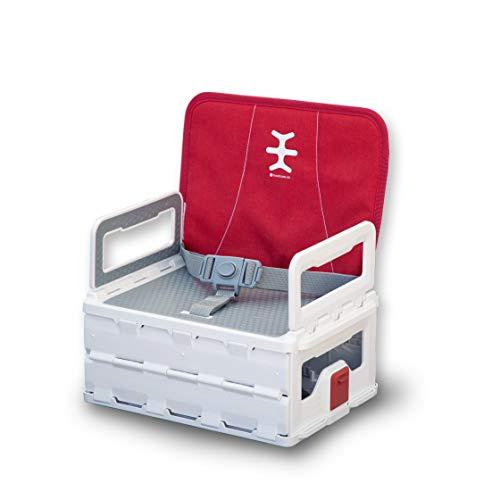 Nikidom - Asiento elevador plano plegable para bebé/niño/bebé de 6 m +, silla plegable portátil de viaje, se ajusta fácilmente a la mayoría de sillas - rojo