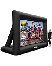 OWLENZ 20 feet Portable Inflatable Home Theater Projector Screen 16:9 4K HD Outdoor and Indoor Inflatable Movie Projection Screen with Inflation Fan and Carrying Bag