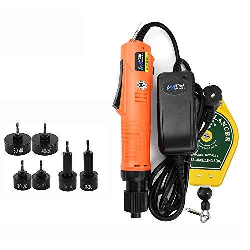 Máquina Tapadora de Botellas Eléctrica Automática Portátil, Máquina de Sellado de Tornillos con Tapa de Botella con 6 Piezas de Tapa de 10-50MM
