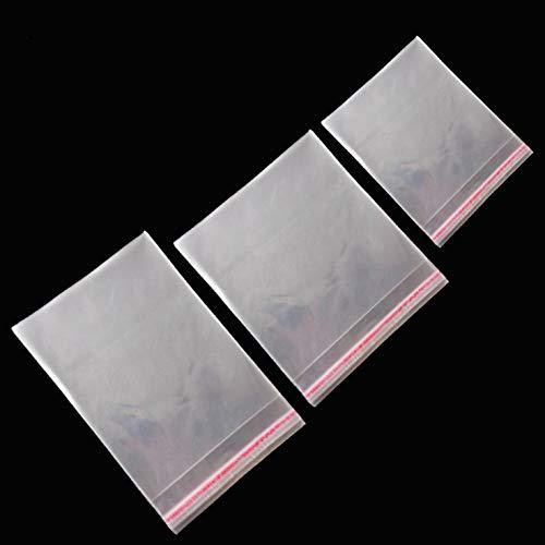 [180 unidades] Celofán Bolsas Transparente Autoadhesivo Bolsas Sellado Bolsas de OPP Plástico para Pan Jabones Galletas día de San Valentín Decoración Bolsas - 60 cada uno de(8x12cm 13x15cm 12x19cm)