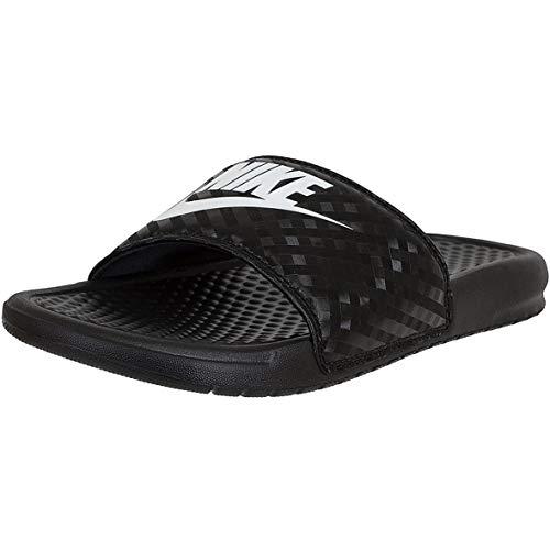 Nike Benassi JDI - Ciabatte da bagno da donna, Nero (nero bianco), 42 EU