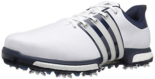 adidas Men's Golf Tour360 Boost Spiked Shoe, White, 9.5 M US