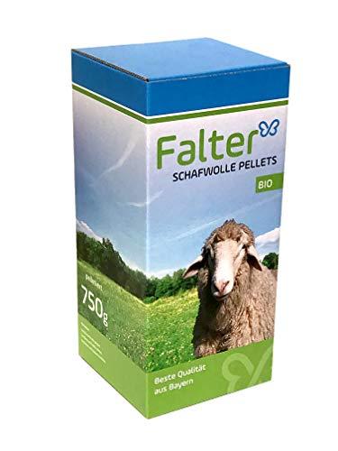 Falter´s Schafwollepellets - Regionaler BIO-Schafwollepellets – organischer Langzeit-Gemüsedünger - Heimische Schafschurwolle aus Bayern - 750 Gramm