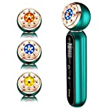 Facial Massager - Face LED Light Therapy Machine - Skin Tightening Machine - Promote Face Cream Absorption Strengthening Elasticity Modifying Wrinkles Sensitiv Skin Care Tools (Elegant Green)