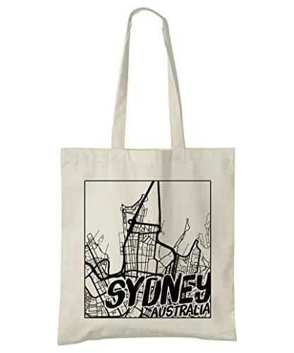 Super Cool Totes Sydney, Australien, Stadtplan Einkaufstasche (Design 3)