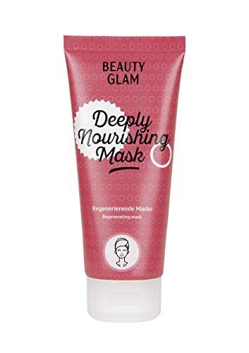 BEAUTY GLAM - Deeply Nourishing Mask - feuchtigkeitsspendende, zellregenerierende Gesichtsmaske - mit Aloe Vera und Jojoba Öl - Vegan, silikonfrei, ohne Farbstoffe, Made in Germany - 100 ml