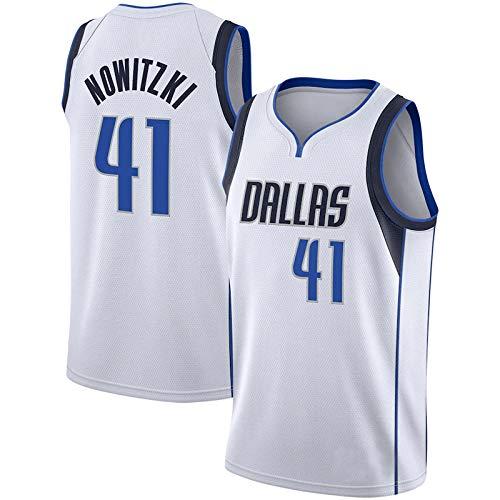 YGXS Camisetas De Baloncesto De La NBA, Adecuadas para NBA Lone Ranger # 41 Diknowitzki, Transpirable, Resistente Al Desgaste, Malla Bordada, Camisetas Deportivas De Baloncesto,B,XL