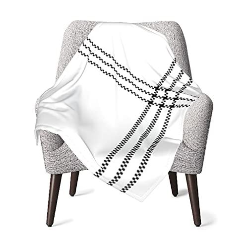 Manta para bebé o niña, color blanco, negro, a cuadros, manta térmica abstracta, manta para siestas, manta de viaje, manta de dormir de 76 x 101 cm