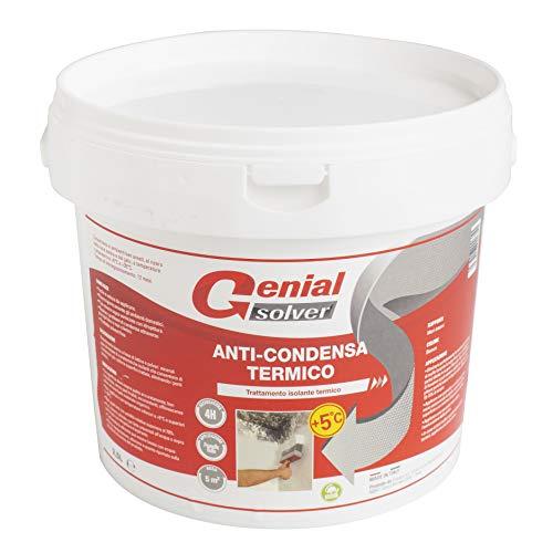 Genial Solver Anti-Condensa Termico - Pittura ANTIMUFFA per Interni Bianca - 2.5 L
