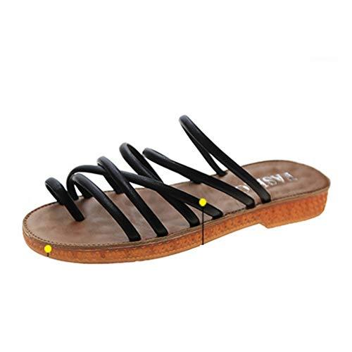 Lady Gladiator Sandals Cross Tie Vintage Summer Beaches Moda al Aire Libre Slip-On Thin Bottom Chanclas Antideslizantes