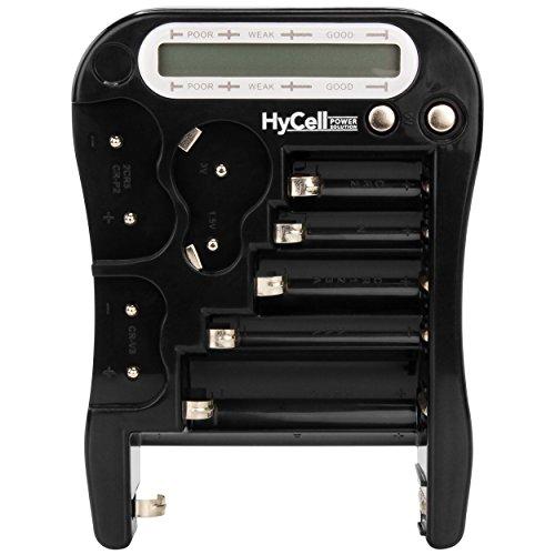 HyCell Digital Batterietester / Kapazität Testgerät zur Batterie Anzeige / Akku Anzeige / Knopfzellen Anzeige / LCD Batterieprüfergerät mit zuverlässigen Testergebnissen
