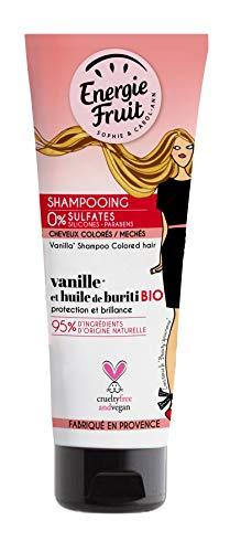 Energie Fruit Shampooing sans Sulfate Cheveux Colores Vanille/Huile de Buriti Bio