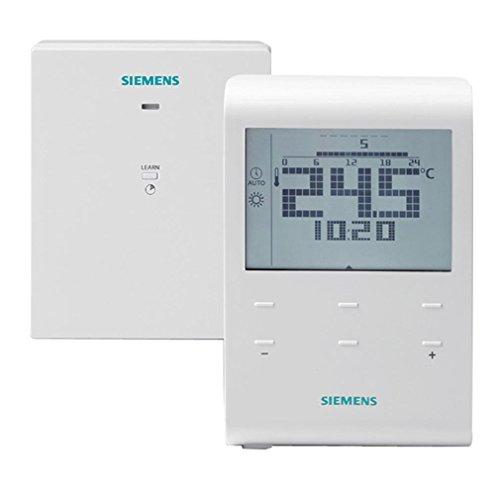 RDE100.1RF S55770-T282 - Termostato de ambiente programable, sin cables, programación semanal