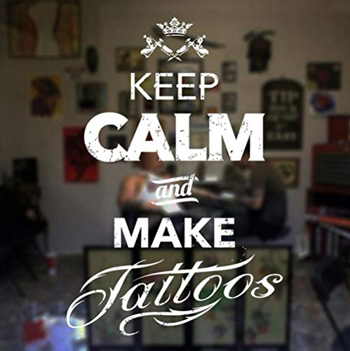 ZJfong tattoo salon stickers Tottoo houden rust en maken Studio vinyl stickers raam decoratie wandafbeeldingen