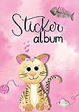 AVERY Zweckform 57794 Stickeralbum Katze, Stickerbuch leer, Album zum Sammeln, Sticker Sammelalbum blanko, Mädchen Geschenke, A5, 16 Seiten 1 Album für Mädchen
