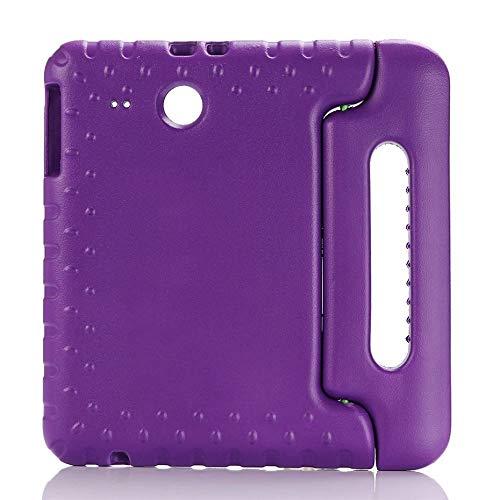RZL Pad y Tab Fundas para Samsung Galaxy Tab E 9.6 T560 T561 Mano Cuerpo Completo Niños Niños Cubierta de Tableta Silicona Silicona para Samsung Galaxy Tab E 9.6'SM-T560 SM-T561 (Color : Purple)
