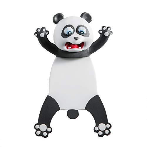 AQKILO Cartoon Panda Bookmark, 3D Squashed Animals Novelty Funny Cute Plastic Bookmark, Kids Creative Stationery for Birthday Party Festivel School Gift