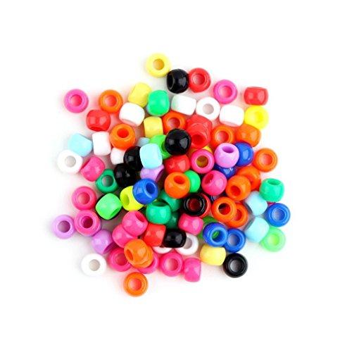 Hanone Ciondoli con Lettere dell'alfabeto Tondo Multicolore Perline di Cavallino per Bracciale a Fasce a Telaio Multicolore