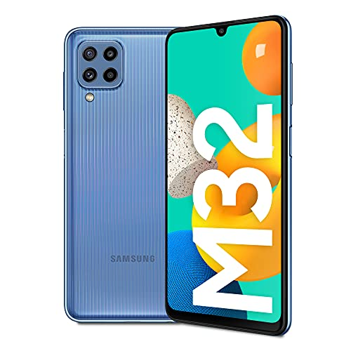 Samsung Galaxy M32 Batteria da 5.000 mAh Smartphone Android 11 Schermo Super AMOLED da 6.4 Pollici RAM 6GB Memoria Interna 128GB Blue 2021, Versione Italiana