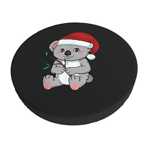 Jeff Goldblum Round Chair Cushion Cover Koala Bear in Christmas Hat Elastic Removable Adjustable for Office Rolling Swivel Tattoo Sofa Bar Circle Chair