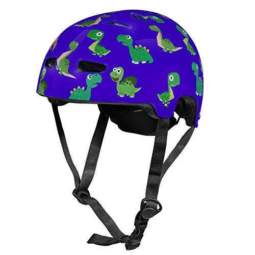 VORCOOL Casco da Bici per Bambini Modello di Dinosauro Casco da Bambino Casco da Bici per Bambini Casco da Bambino per Ragazzi Ragazze Ciclismo Skate Scooter Roller