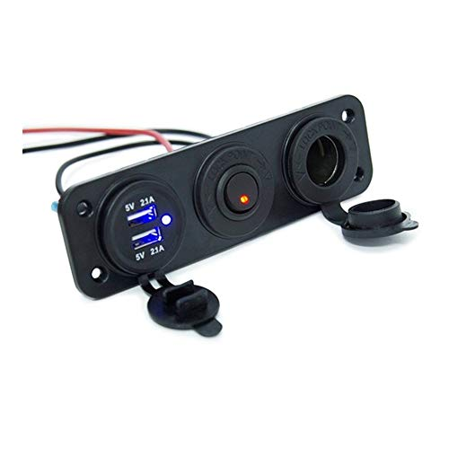 YMHAN CC 12 / 24V 5V / 2.1A Voltímetro con Doble Puerto USB Cargador De Mechero De Coche For RV Vehículos Carro del Barco del Cargador De Coche GPS MP3 con El Interruptor