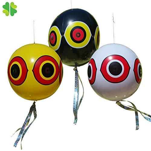 Gardleaf 3 Big Balloos: bandas + globos repelentes de pájaros – Ahuyentador...