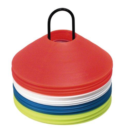 Rucanor 40 Discs - Equipo para marcar el Campo de fútbol, Color Rojo/Blanco/Azul, Talla Talla única