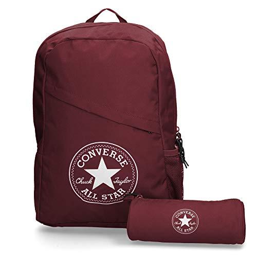 Converse Unisex Rucksack Schoolpack XL Set inkl Federtasche Burgundy (weinrot)