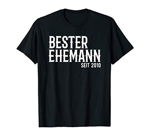 Herren Bester Ehemann Seit 2010 Rosenhochzeit Geschenk T-Shirt