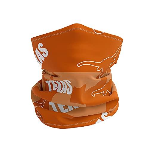 Neck Gaiter College Team Logo Unisex-Adult Multiuse Face Cover Scarf (Texas Longhorn)