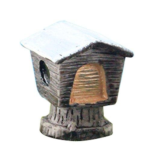 Outflower miniature rétro en bois Boîte aux lettres Fée Décorations de jardin Mini pot Décor Paysage Fish Tank Résine Accessoires DIY Home Décor de jardin, Résine, marron, 2.5*2*3cm