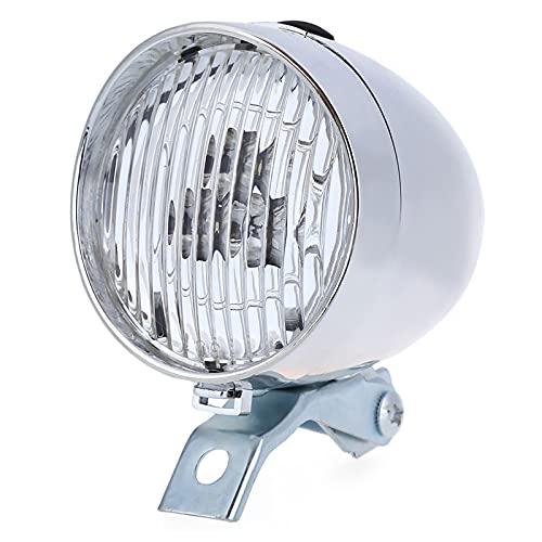 FGKLU Retro Luces Delantera Bicicleta, 3 Cuentas LED Luz Bicicleta, Luz Antiniebla Delantera con Soporte