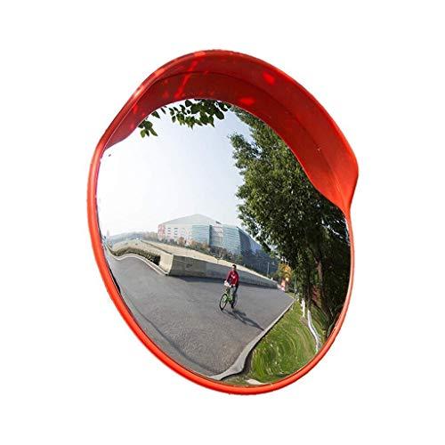 Xiao Jian- Sicherheitsspiegel Verkehrsspiegel Biegen Anti-Kollisions-Reflective PC Wasserdichtes haltbarer Sonnenschutz im Freien Lager Garage Supermarkt Shop Toter-Winkel-Spiegel (Größe : 45cm)