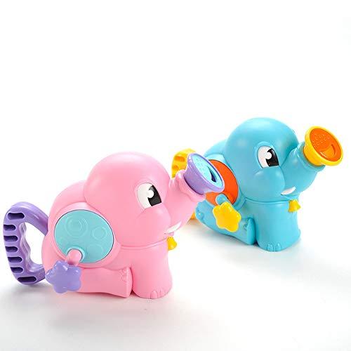 Rain City 2019 Elephant Douche Pompe à Main Vaporiser d'eau Baignoire Bain Jouets adaptée pour Les bébés de Plus de 3 Ans,Rose