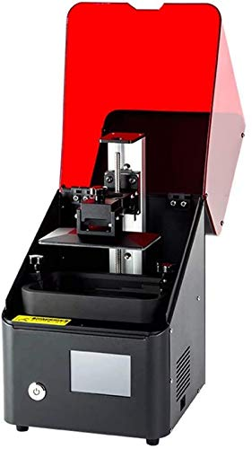 RSBCSHI UV Resin Photocuring 3D Printer, Desktop With Power Supply Resume Printing, Off-Line Print, Full Auto Leveling, For Office, The Classroom, Gift,Black
