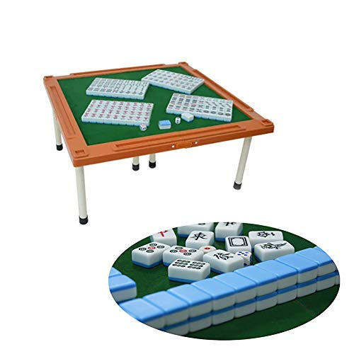 Mahjong De Viaje PortáTil, Hecho De Melamina, con Un Plegable Mahjong Tabla,...