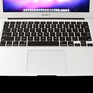 Miss flora MAC accessories .ENKAY for MacBook Air 11.6 inch (US Version) / A1370 / A1465 Colorful Soft Silicon Keyboard Protector Cover Skin(Pink) (Color : Black)