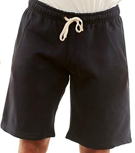 New York Avenue NYA Herren Baumwolle Elastische Active Jogger Gym Shorts Drei Taschen - Blau - Mittel