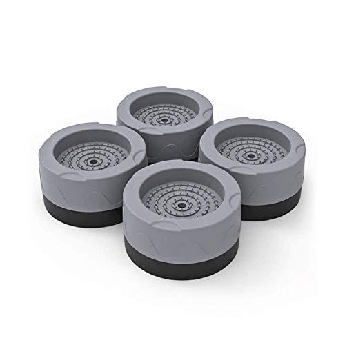 Tappetino Antivibrazione per Lavatrice, 4 Pezzi Piedini per Lavatrice, Piedini Antivibrazione Lavatrice, Tappetino Antiscivolo In Gomma Anti-Vibrazione E Resistente All'Usura (Grigio, 3,5cm)