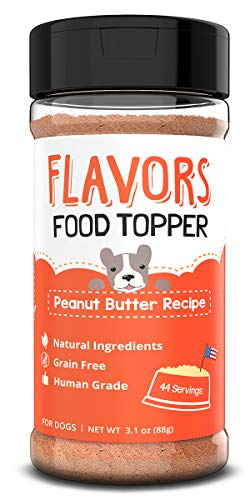 Flavors Food Topper and Gravy for Dogs - Peanut Butter Recipe, 3.1 oz. - Natural, Human Grade, Grain Free - Perfect Kibble Seasoning and Hydrating Treat Mix for Picky Dog or Puppy, Brown