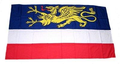 Fahne Stockflagge Rostock NEU 30 x 45 cm Flagge