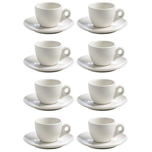 Maxwell & Williams 8er Set Espressotassen White Basics Round H. 5,5cm weiß
